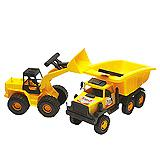 Guclu Toys Kamion Set Bager i Kamion Double Construction 1187