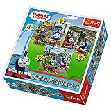 Trefl 3u1 Puzzle Thomas Goes Into Action 34821