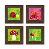 Slika Happy Nature 15 x 15 cm  - komplet od 4 slike