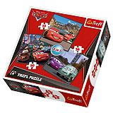 Trefl Puzzle 3u1 Cars Travel Around Europe 20, 36, 50 kom